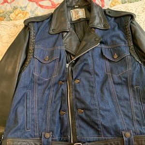 Vintage Drag Specialties Leather Jacket denim vest